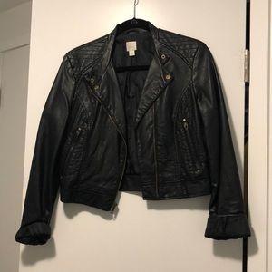 Lauren Conrad faux leather moto jacket